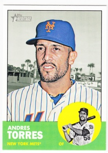 2012 Topps Heritage Hi-#'s Andres Torres