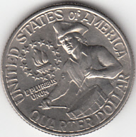 1976 US Quarter reverse