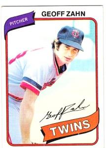 1980 Topps Geoff Zahn