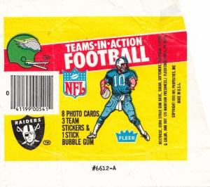 1981 Fleer Football Wrapper