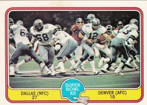 1981 Fleer Super Bowl XII