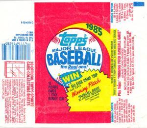 1985 Topps Baseball wrapper