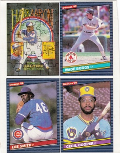 1986 Donruss box cards 7-9