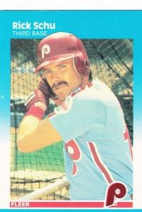 1987 Fleer Rick Schu