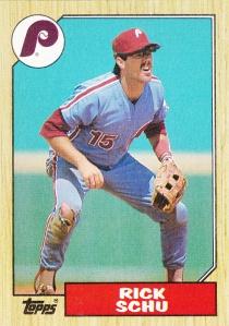 1987 Topps Rick Schu