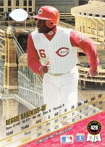 1993 Leaf back Reggie Sanders
