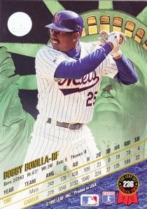 1993 Leaf Bobby Bonilla back