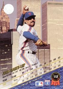 1993 Leaf John Franco back