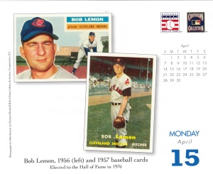 2013 Baseball HOF calendar April 15