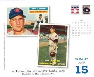 2013 Baseball HOF calendar April 15