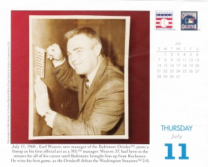 2013 Baseball HOF calendar July 11