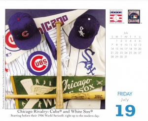 2013 Baseball HOF calendar July 19