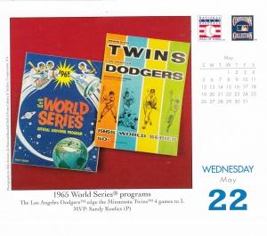 2013 Baseball HOF calendar May 22