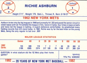 RGI 1962 Mets Richie Ashburn back