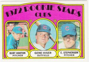 1972 Topps Cubs Rookies Hooton Hiser Stephenson