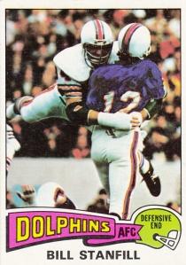 1975 Topps Football Bill Stanfill