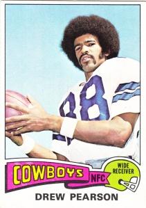 1975 Topps Football Drew Pearson