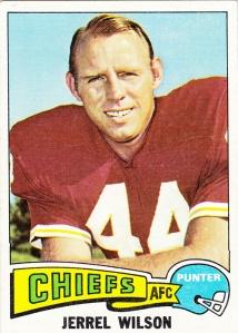 1975 Topps Football Jerrel Wilson
