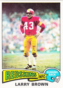 1975 Topps Football Larry Brown