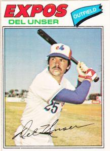 1977 OPC Del Unser