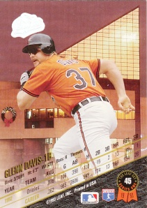 1993 Leaf back Glenn Davis