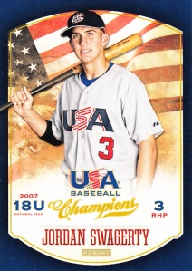 2013 Panini USA Baseball Champions Jordan Swagerty