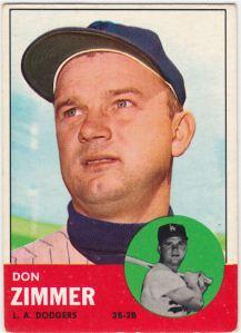 1963 Topps Don Zimmer