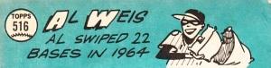 1965 Topps Al Weis back