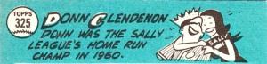 1965 Topps Donn Clendenon  back