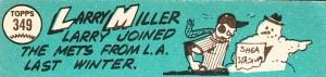 1965 Topps Larry Miller  Back