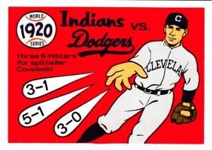1970 Fleer World Series 17 Indians Dodgers