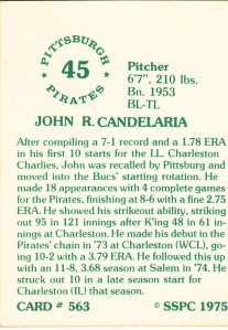 1976 SSPC #563 John Candeleria back