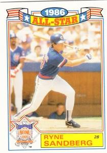 1987 Topps All-Star Glossy Ryne Sandberg