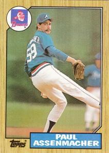 1987 Topps Paul Assenmacher