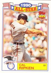 1991 Topps Glossy All Star Cal Ripken