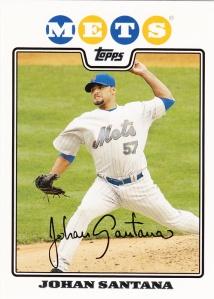 2008 Topps Mets Team Set Johan Santana
