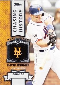2013 Topps Chasing History David Wright