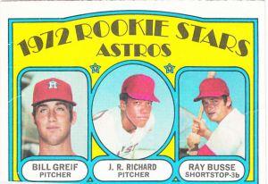 1972 Topps Astros Rookies Greif Richard Busse