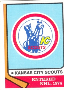 1974 Topps Hockey Kansas City Scouts