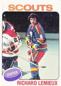 1975 Topps Hockey Richard Lemieux