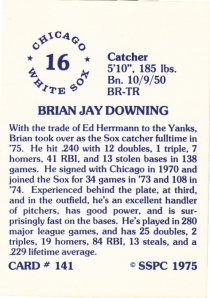 1976 SSPC #141 Brian Downing back