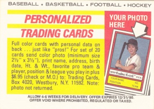1979-80 Topps Hockey Sticker Back