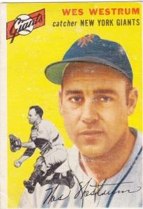 1954 Topps Wes Westrum