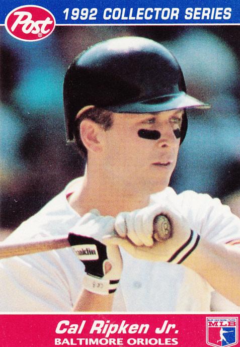 post 1992 collector series cal ripken jr biography