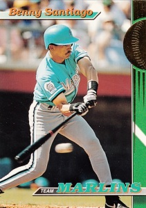 1993 Stadium Club Team Marlins Benny Santiago