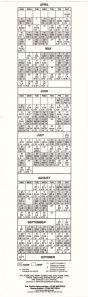 WFAN Bumper Sticker 1989 Mets Schedule back