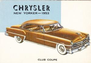 1954 Topps World On Wheels Chevrolet Bel Air