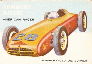 1954 Topps World On Wheels Cummins Diesel
