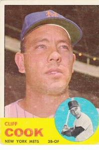 1963 Topps Cliff Cook