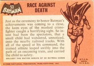 1966 Batman - Black Bat - Race Against Death back